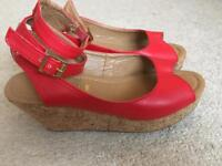 Red Office Sandal Size 5