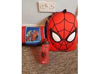 Official Disney Store Spider-Man School bag lunchbag and bottle