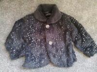Girls grey 12-18 month sequin coat jacket