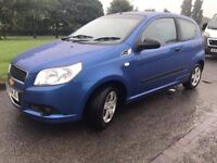 2009 09 reg Chevrolet Aveo 1.2s Metallic Blue 2 Door 57k Miles