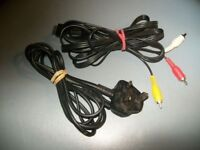 SONY PLAYSTATION 1/2 CABLES ONE POWER CABLE AND ONE AV CABLE FOR PS2