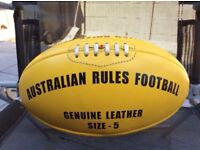 Aussie Rules leather football size 5