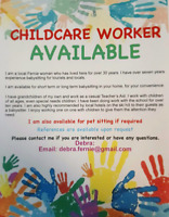 Child Care Provided By Myself In The Fernie Area