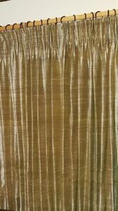 3 sets Gold silk lined curtains