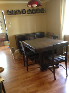 """Antique Table and Hutch 1930""""s"""