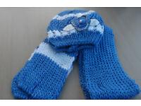 Ladies Blue Ladies Hat and Scarf Set.