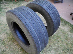 P265/70R17, two tires Toyo H/T Open Country, good shape!
