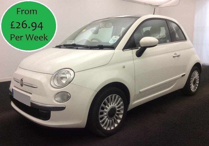 £115.81 Per Month 2014 Fiat 500 1.2 Lounge 3 Door Petrol Manual