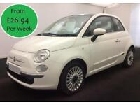 £115.81 Per Month 2014 Fiat 500 1.2 Lounge 3 Door Petrol Manual