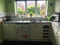 Complete used kitchen with appliances for quick sale.