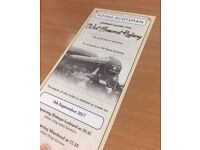 FLYING SCOTSMAN EXCURSION - SATURDAY 9th SEPTEMBER - BISHOPS LYDEARD / MINEHEAD