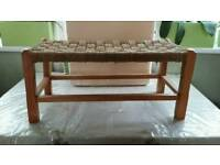Double hand woven seat/footstool