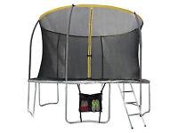 Sportspower 12ft Trampoline with Folding Enclosure Bundle
