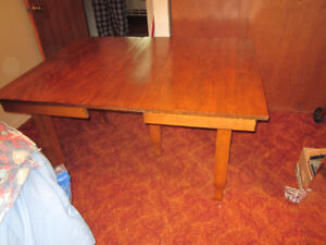 Antique hardwood dining table with 5 legs (no chairs)