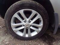 "nissan qashqai alloy wheels and tyres, xtrail, juke 17"" bridgestone"