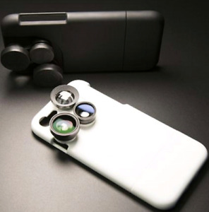 New! iPhone case build in 4 in 1 zoom fish eye lenses rotatable.