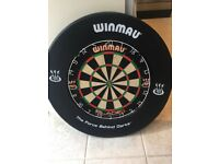 Winmau dartboard with surround