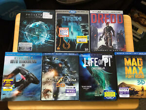 3D blue ray Movies $55 for all 7!