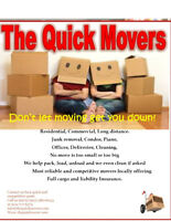 Quick Moving & Delivery 24/7 Fully Insured & Reliable. Book Now