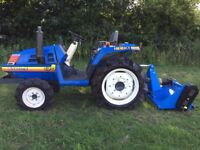 Iseki TU170 4WD Compact Tractor with New 4FT Flail Mower, 1050 Hours