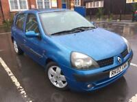 Renault Clio 1.4 2002 2 owners Mot 13th July 2018Mileage 98k