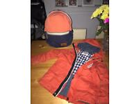 Boys next coat & bag Age 7