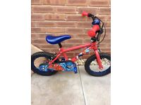 A small Spider-Man bike ideal for 3 years plus