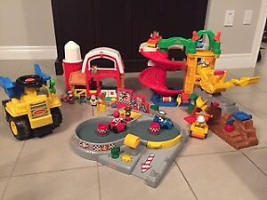 4 Little People Sets and Tonka Dump Truck