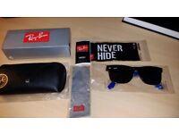RayBan Original Wayfarer Sunglasses! Black and White! BRAND NEW (unboxed)