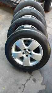 OE Jetta or Golf Wheels with 195/65R15 Tires
