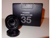 Fuji 35mm f2 wr in very good condition used adout 10 times
