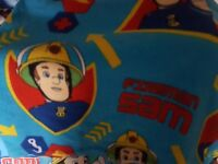 Fireman sam Bedding bundle, curtains and fleece