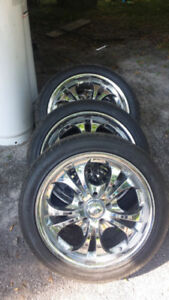 18x8 Boss Chrome Wheels with New Tires
