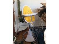 Bloom Fresco egg high chair canary yellow