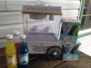 Kids snow cone machine, chair