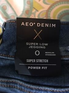 American eagle jeans size 0 (jeggings)
