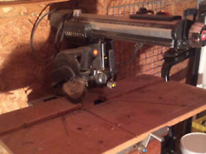 "CRAFTSMAN 10"" Radial Arm Saw with attached Stand"
