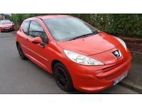 PEUGEOT 207 ,07/ 1.4 .RED 2 DR,MOT MAY 2018,LADY OWNED,AIRCON,RECENT SERVICE,HPI CLEAR,£1500