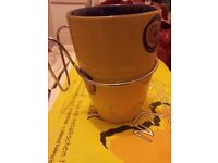 Set of 6 x Mugs with Metal Handles Collection Africa