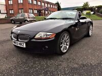 2003 BMW Z4 3.0 SI SPORT ROADSTER AUTOMATIC - BLACK ON BLACK / BLUETOOTH / MV3 - 2 KEYS - HPI CLEAR