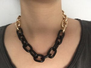Colorblock Chain Necklace - Collier - NEUF