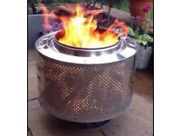 Burn bin fire pit bbq washer drum incinerator patio heater