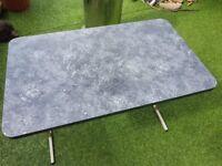 large caravan folding table marble effect 60 cm x 100 cm