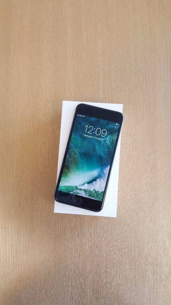 iPhone 6 plus (A3in Stoke on Trent, StaffordshireGumtree - iPhone 6 plus black/gray colour 64GB unlock come with complete box and 6 month shop warranty please dont call after 7 pm