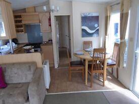 Discounted luxury 3 bedroom static caravan includes site fees until 2019 Devon by the sea