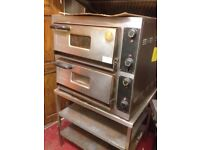 Pizza oven. Double deck electric pizza oven (used)