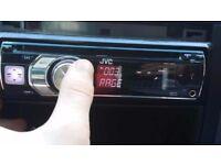 Jvc kd r601 car radio cd MP3 player aux usb I pod 50w x 4 universal fitment