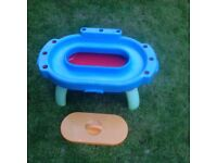 Early learning centre stand up sand pit and water play