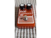 DOD 280 Electro-Optical Compressor Guitar Pedal
