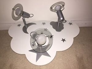 Cool children's bedroom light fixture - star cloud moon